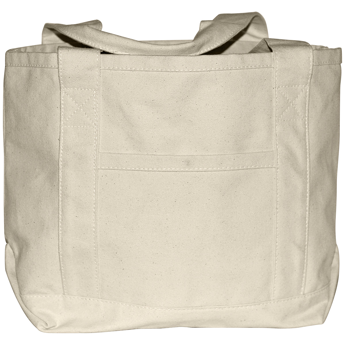 Canvas Boat Bag W Front Pocket 15x10x6in Natural