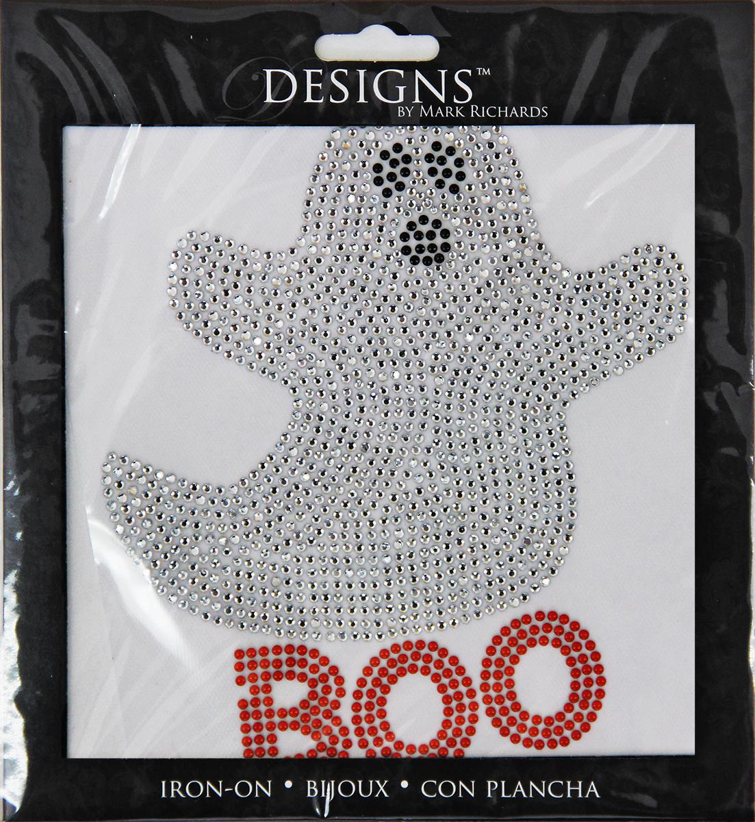rhinestone applique halloween boo ghost 5x5in